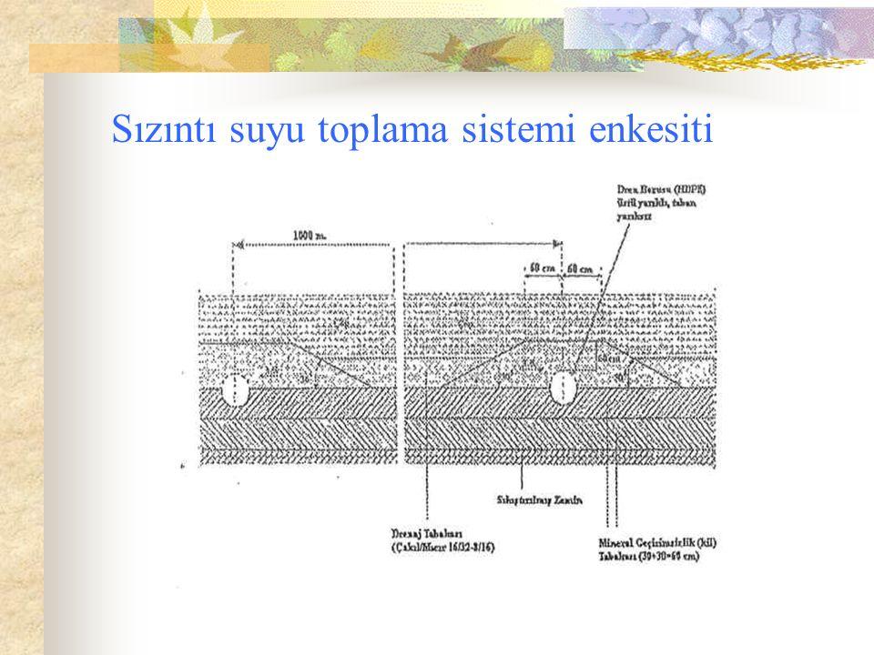 Sızıntı suyu toplama sistemi enkesiti