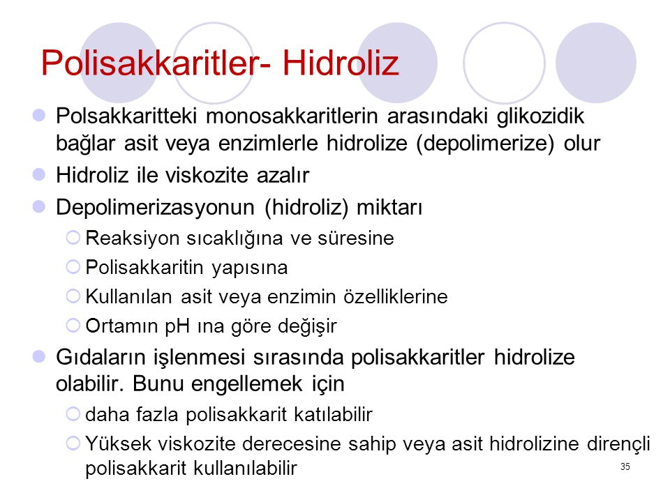Polisakkaritler- Hidroliz