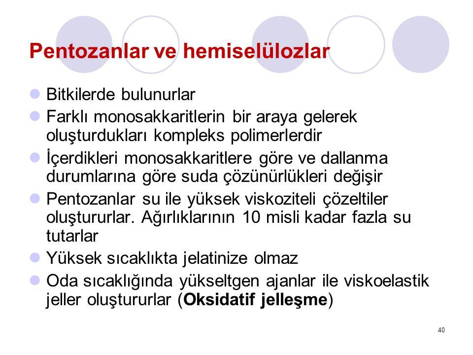 Pentozanlar ve hemiselülozlar