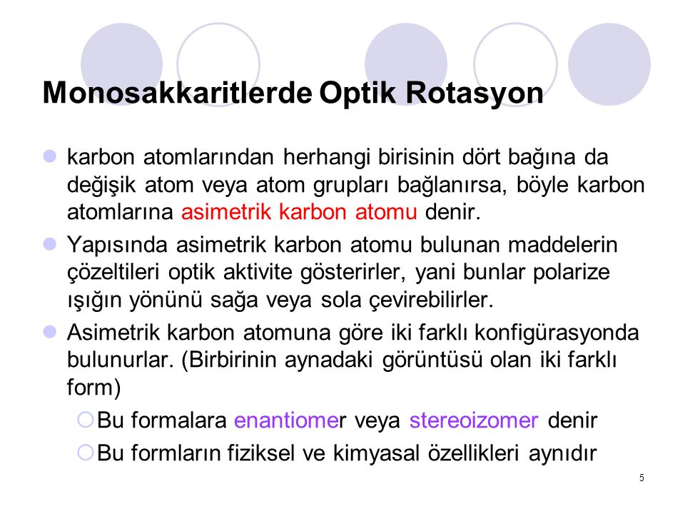 Monosakkaritlerde Optik Rotasyon