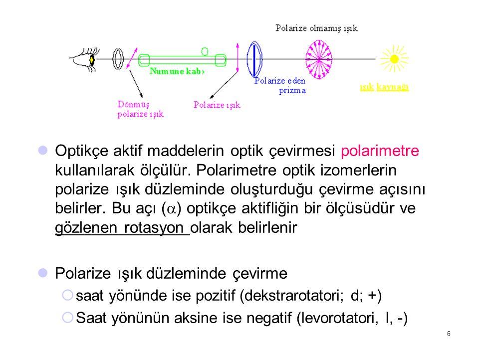 Polarize ışık düzleminde çevirme