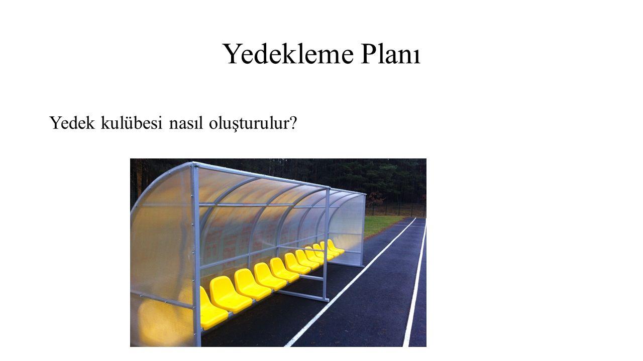 Yedekleme Planı Yedek kulübesi nasıl oluşturulur