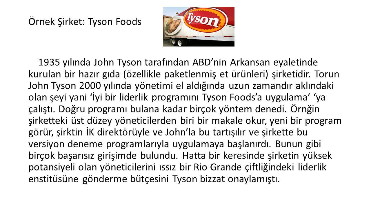 Örnek Şirket: Tyson Foods