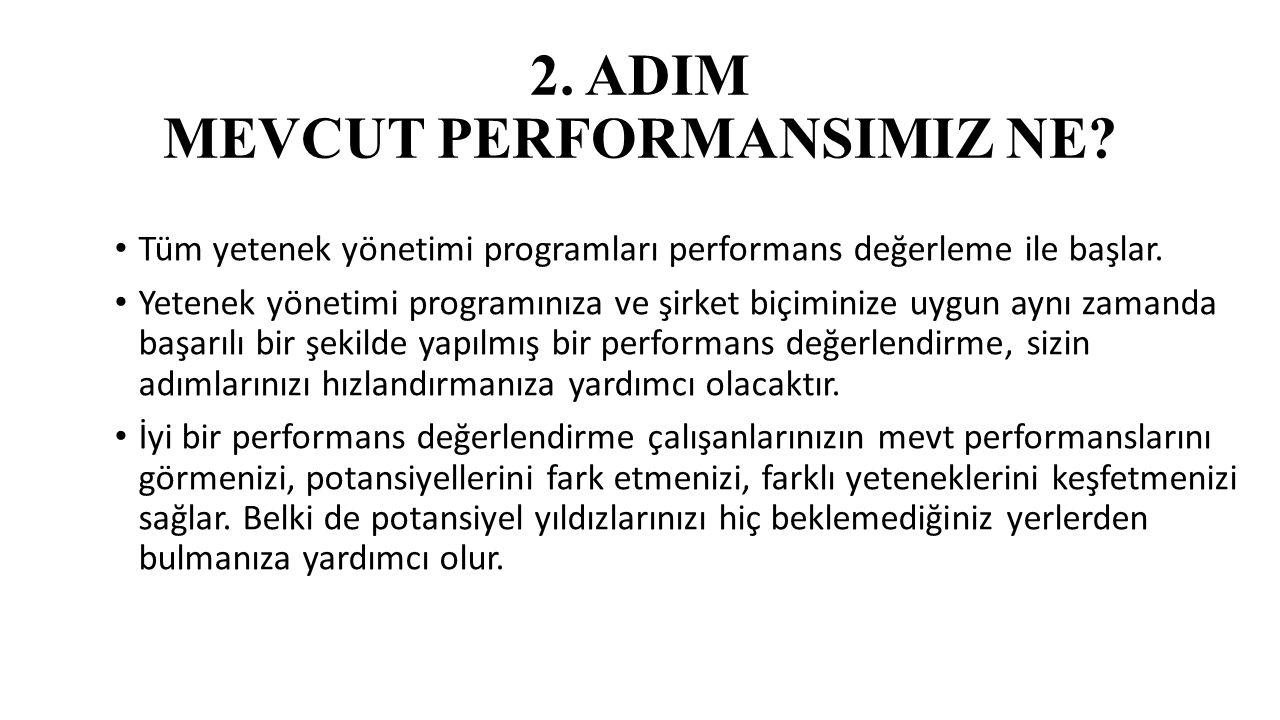 2. ADIM MEVCUT PERFORMANSIMIZ NE