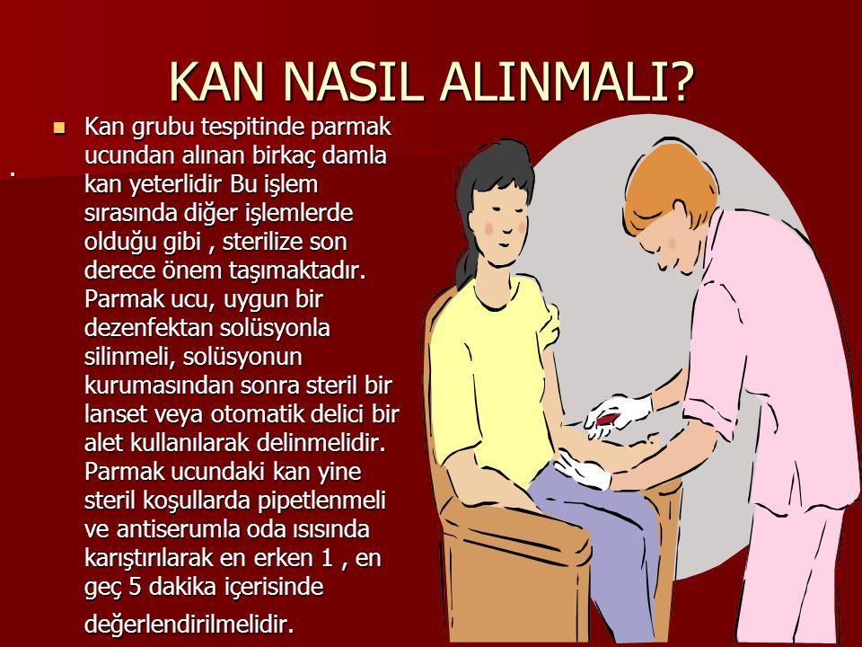 KAN NASIL ALINMALI