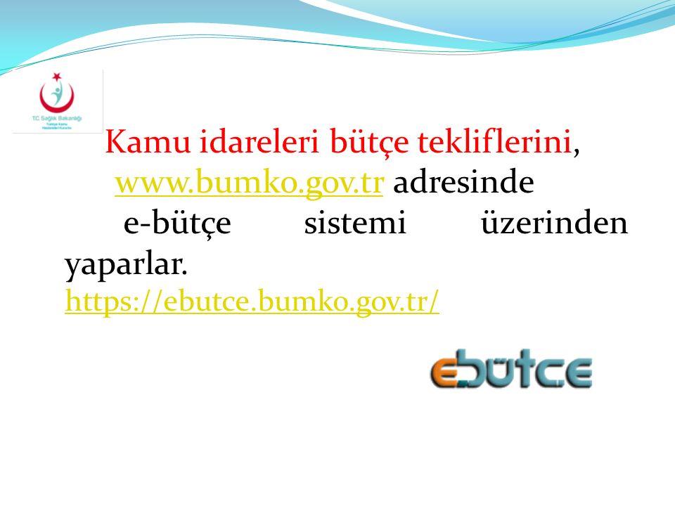 www.bumko.gov.tr adresinde e-bütçe sistemi üzerinden yaparlar.