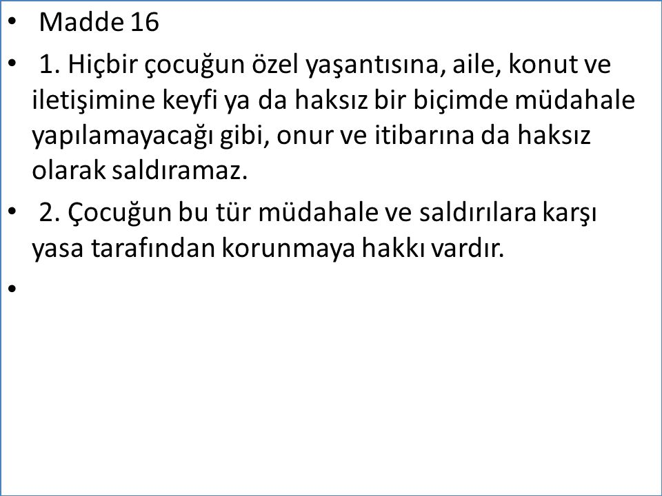 Madde 16