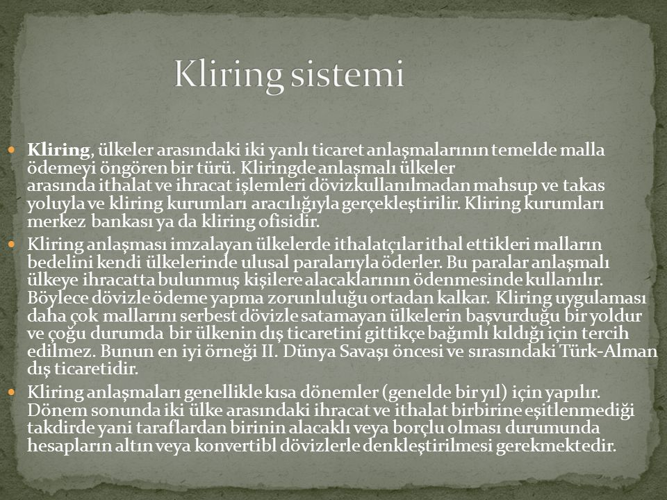 Kliring sistemi