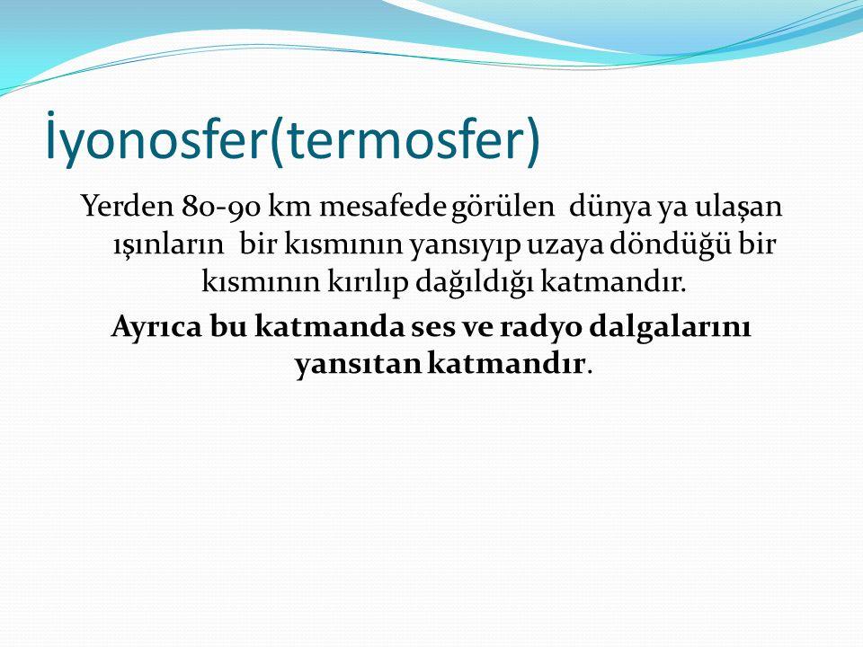 İyonosfer(termosfer)