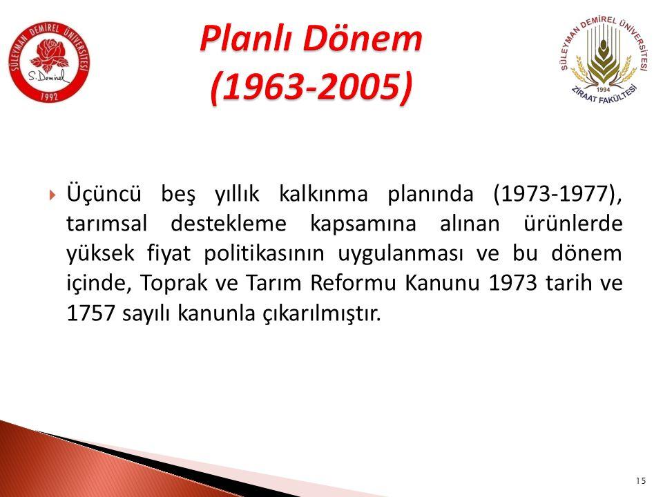 Planlı Dönem (1963-2005)