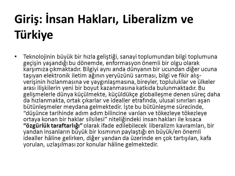 Giriş: İnsan Hakları, Liberalizm ve Türkiye