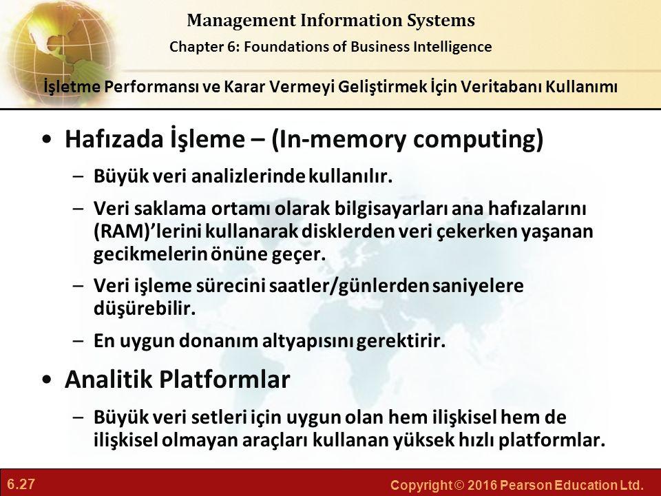 Hafızada İşleme – (In-memory computing)