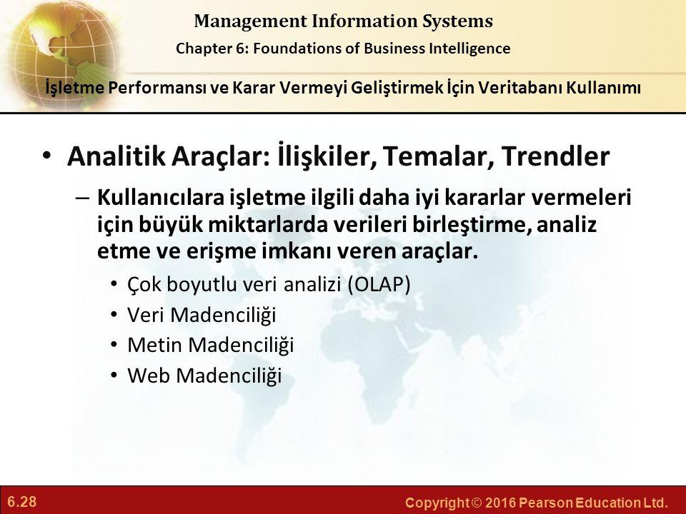 Analitik Araçlar: İlişkiler, Temalar, Trendler
