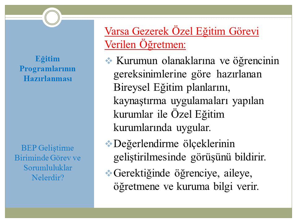 Varsa Gezerek Özel Eğitim Görevi Verilen Öğretmen: