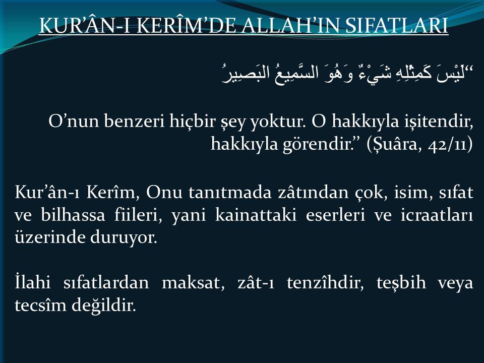 KUR'ÂN-I KERÎM'DE ALLAH'IN SIFATLARI