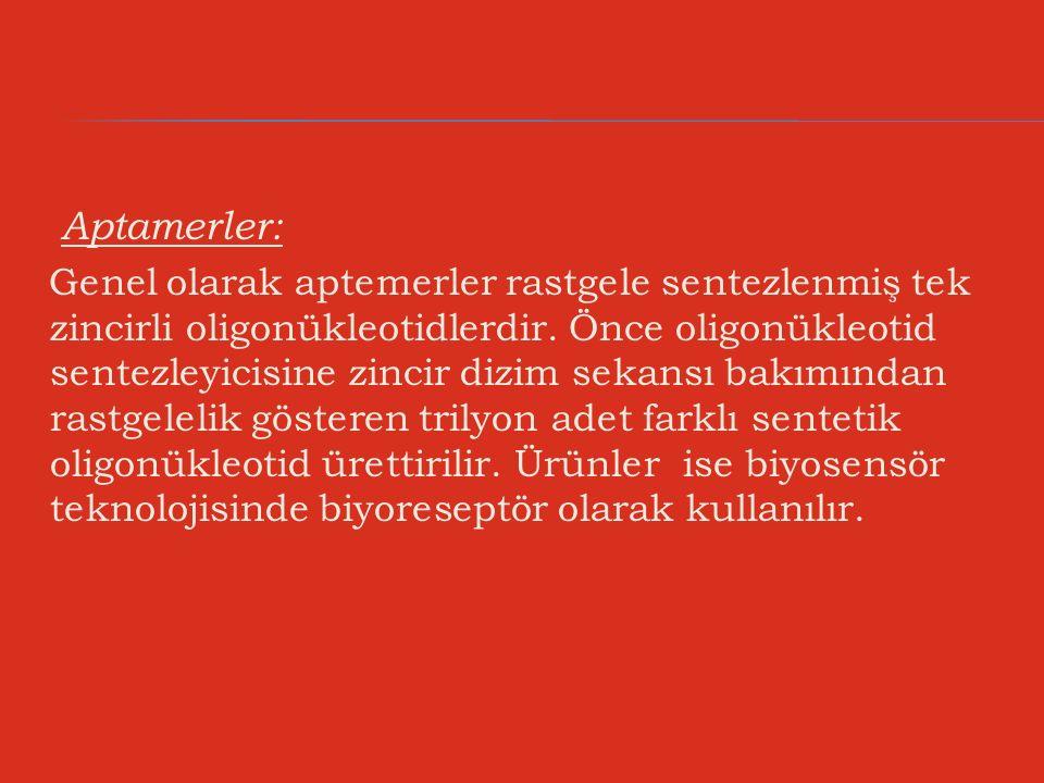 Aptamerler: