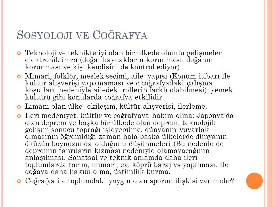 Sosyoloji ve Coğrafya