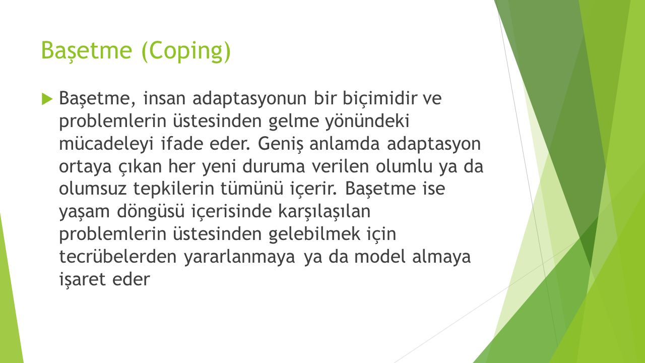 Başetme (Coping)