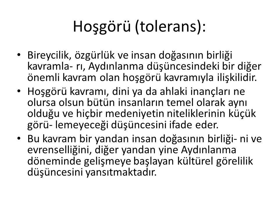 Hoşgörü (tolerans):