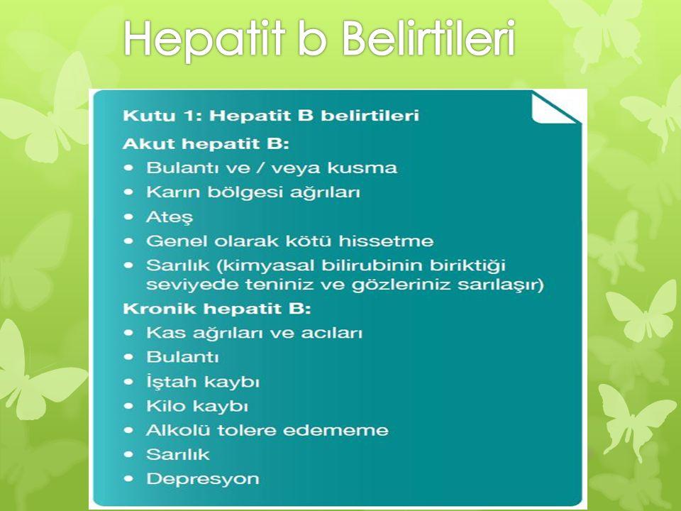 Hepatit b Belirtileri