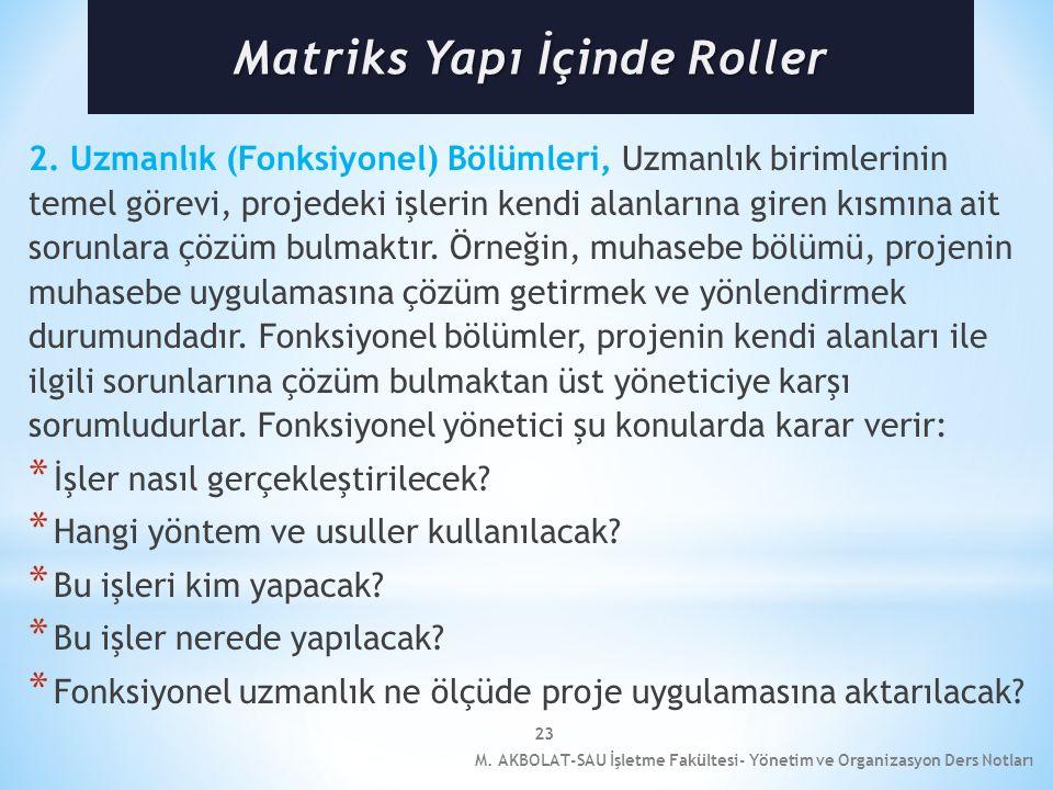 Matriks Yapı İçinde Roller