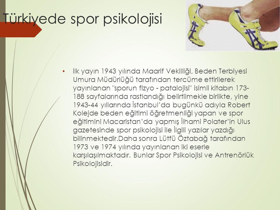 Türkiyede spor psikolojisi