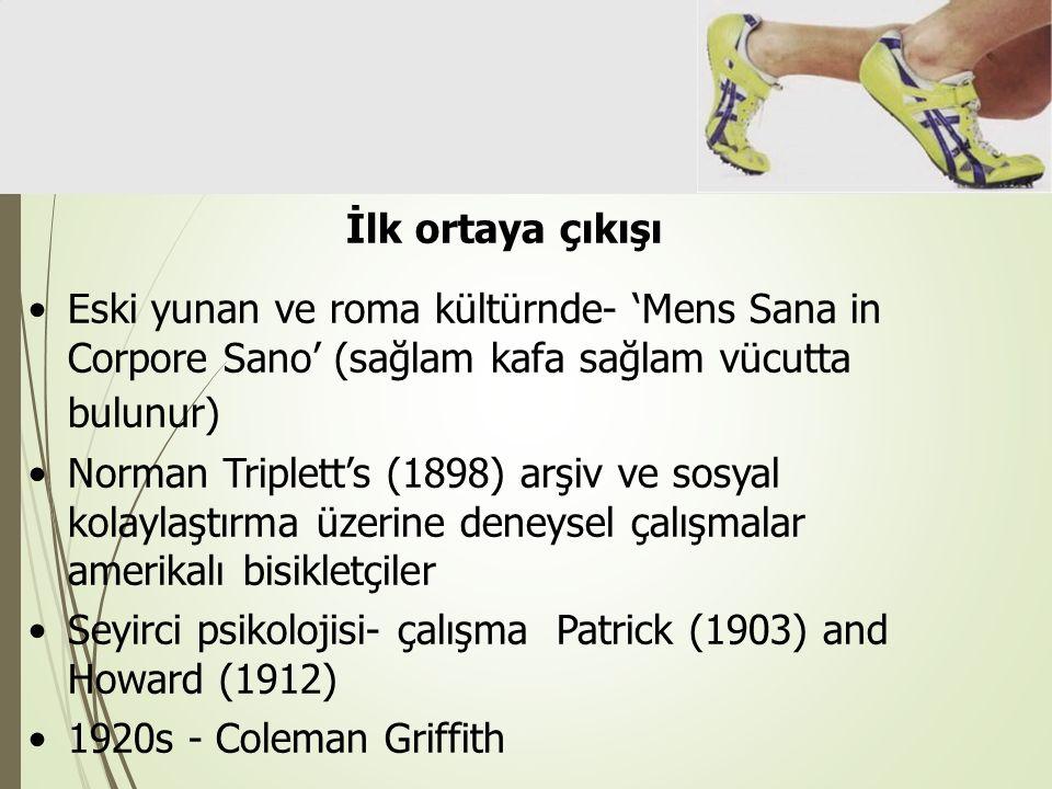 İlk ortaya çıkışı Eski yunan ve roma kültürnde- 'Mens Sana in Corpore Sano' (sağlam kafa sağlam vücutta bulunur)