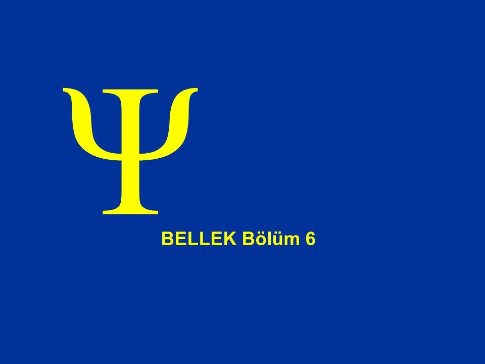 Ψ BELLEK Bölüm 6
