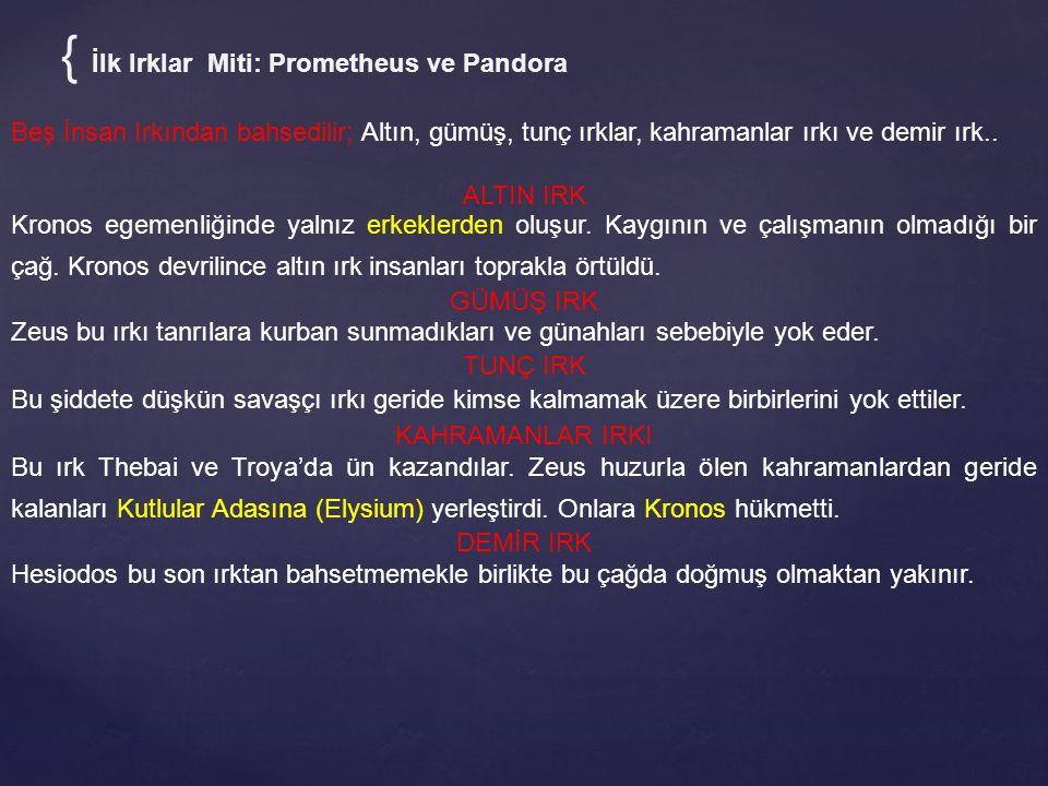 { İlk Irklar Miti: Prometheus ve Pandora