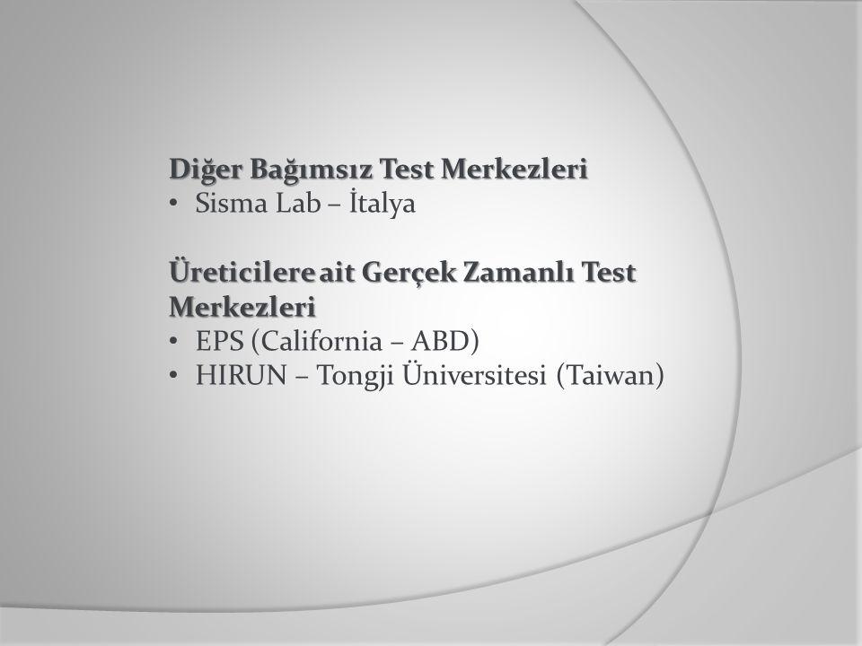 Diğer Bağımsız Test Merkezleri