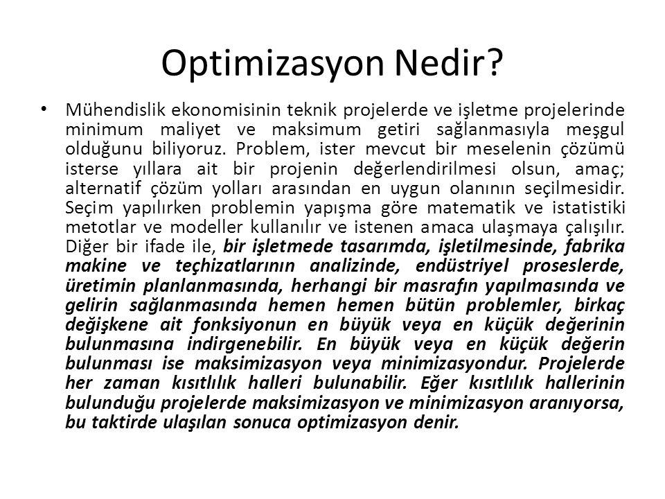 Optimizasyon Nedir