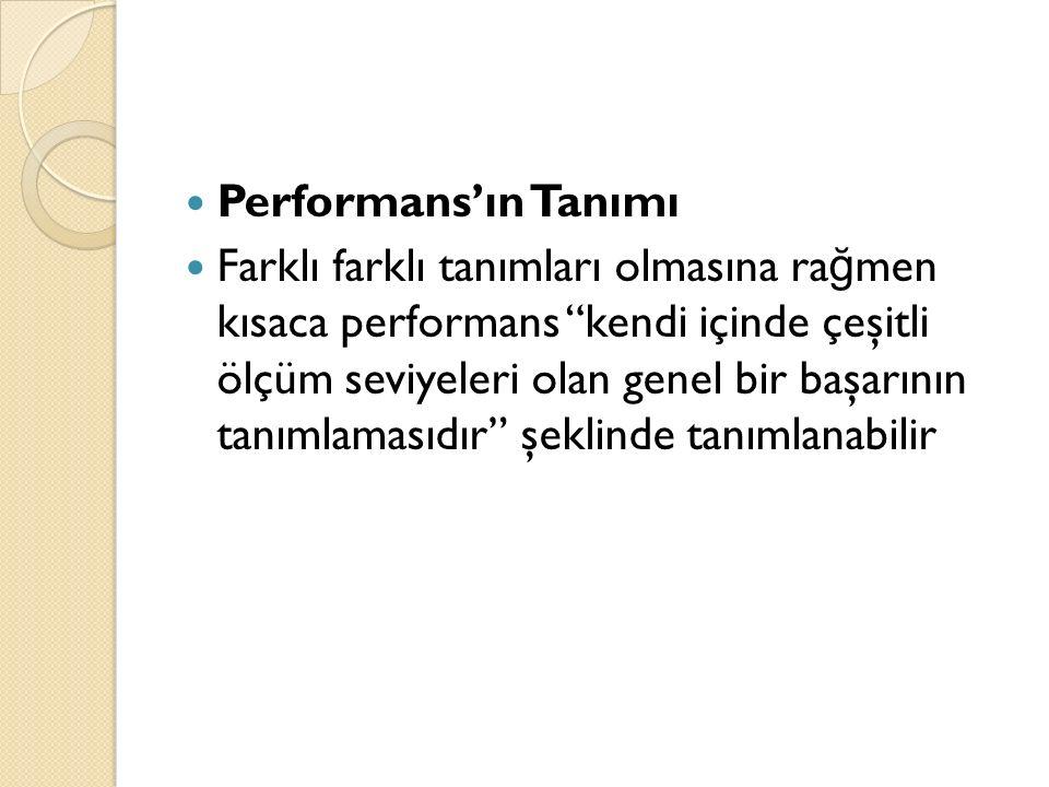 Performans'ın Tanımı