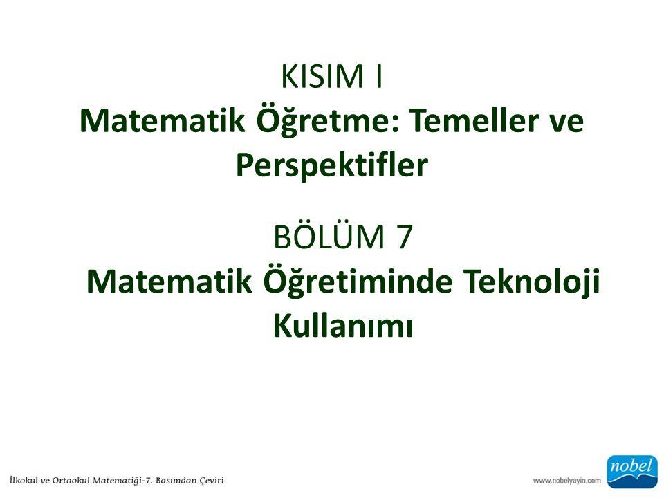 KISIM I Matematik Öğretme: Temeller ve Perspektifler
