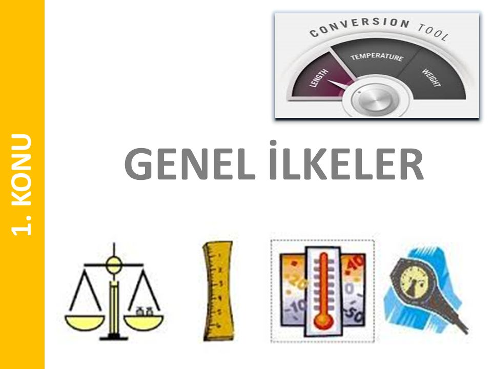 GENEL İLKELER 1. KONU