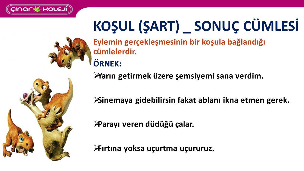 KOŞUL (ŞART) _ SONUÇ CÜMLESİ