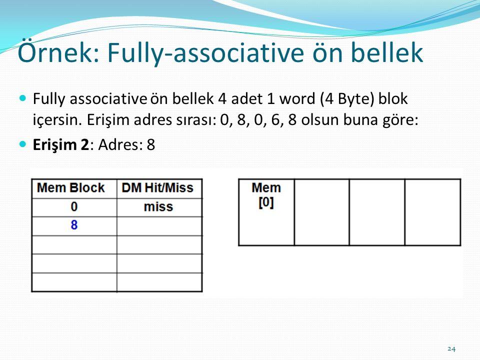 Örnek: Fully-associative ön bellek