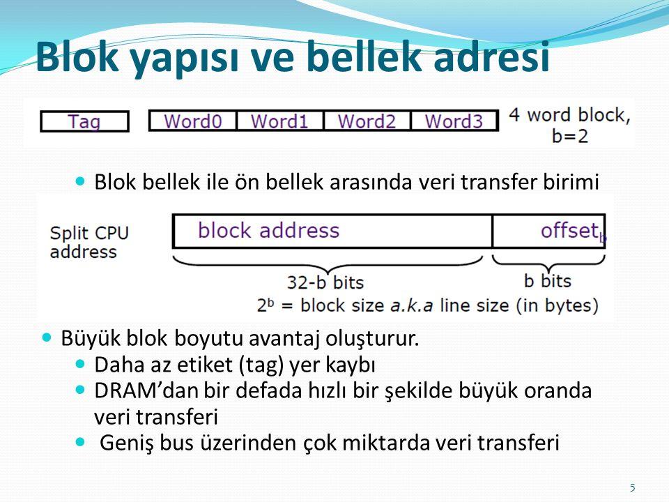 Blok yapısı ve bellek adresi