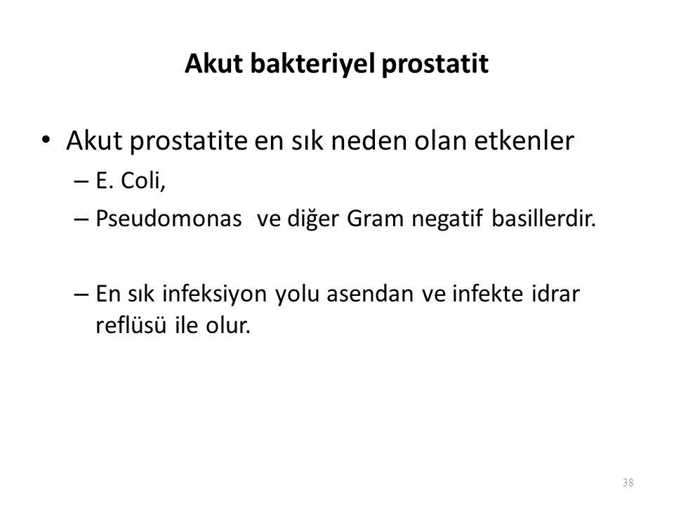 Akut bakteriyel prostatit