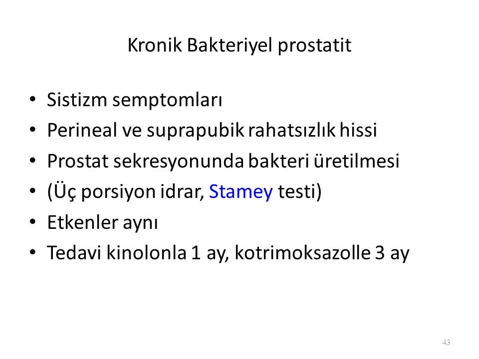 Kronik Bakteriyel prostatit