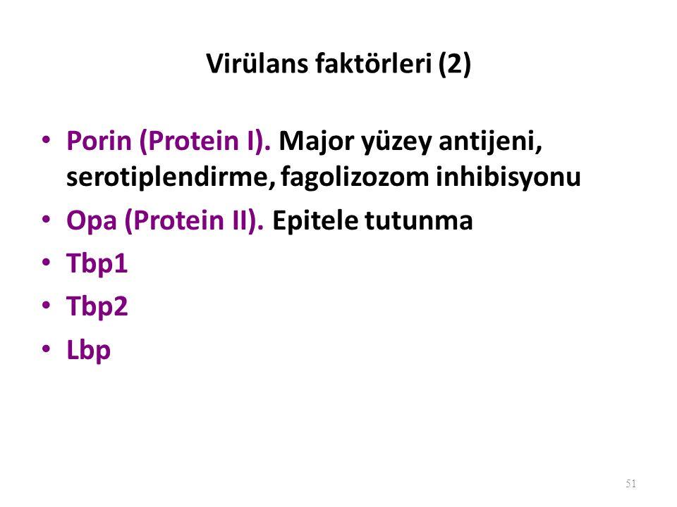 Virülans faktörleri (2)
