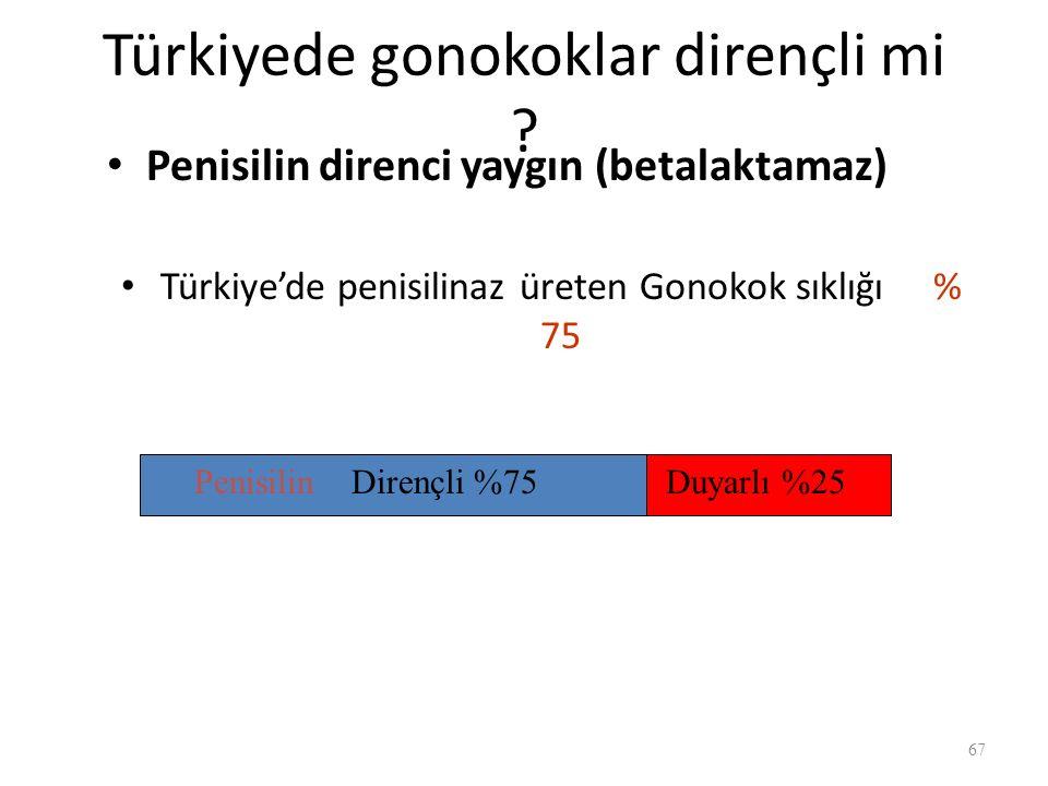 Türkiyede gonokoklar dirençli mi