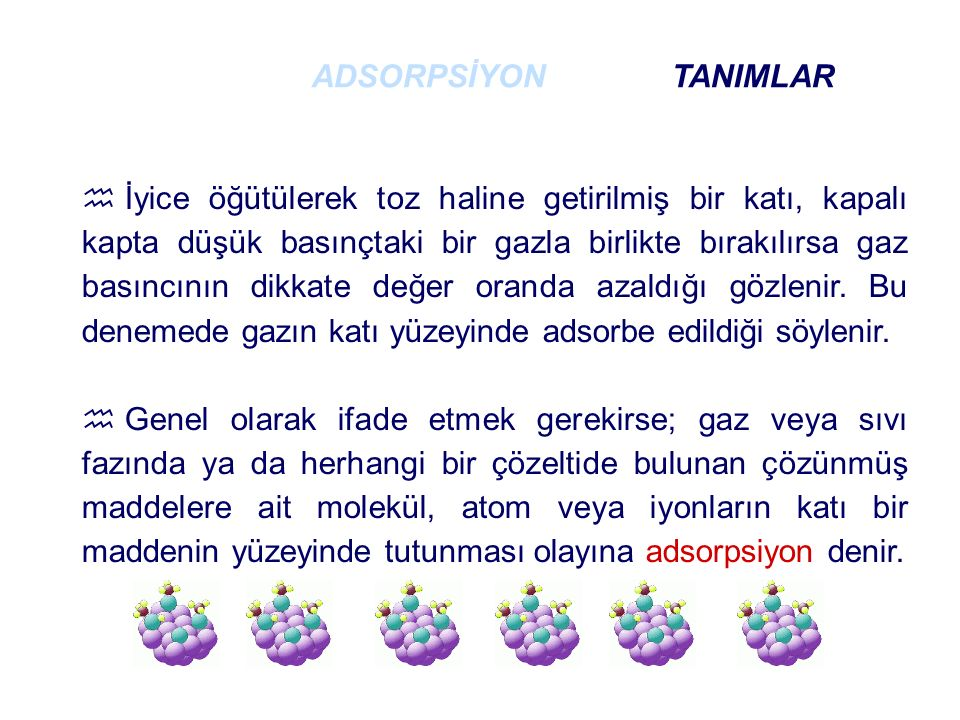 ADSORPSİYON TANIMLAR