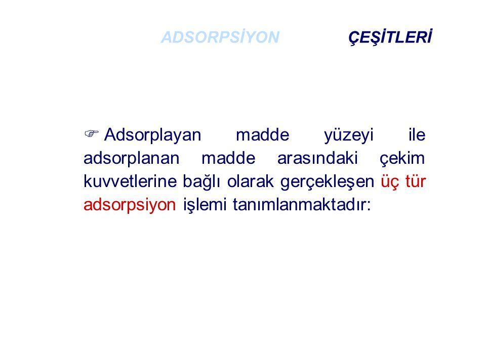 ADSORPSİYON ÇEŞİTLERİ