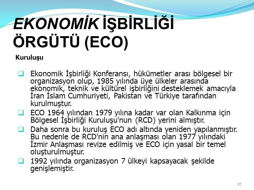 EKONOMİK İŞBİRLİĞİ ÖRGÜTÜ (ECO)