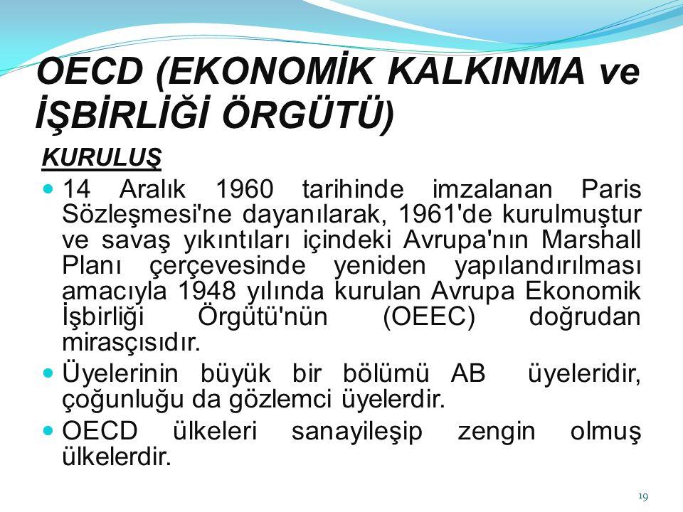 OECD (EKONOMİK KALKINMA ve İŞBİRLİĞİ ÖRGÜTÜ)