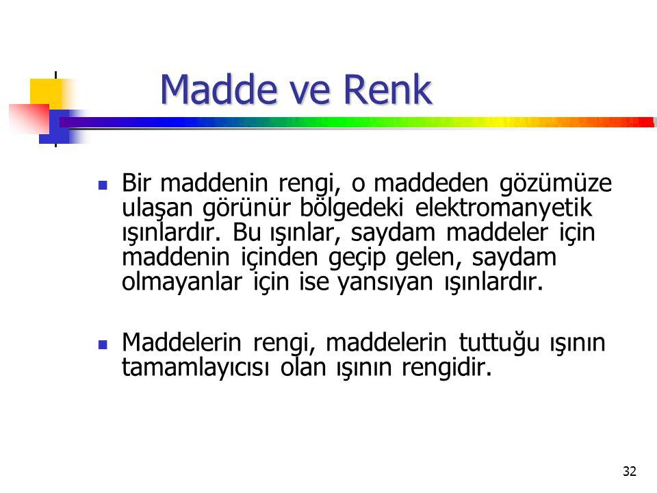 Madde ve Renk
