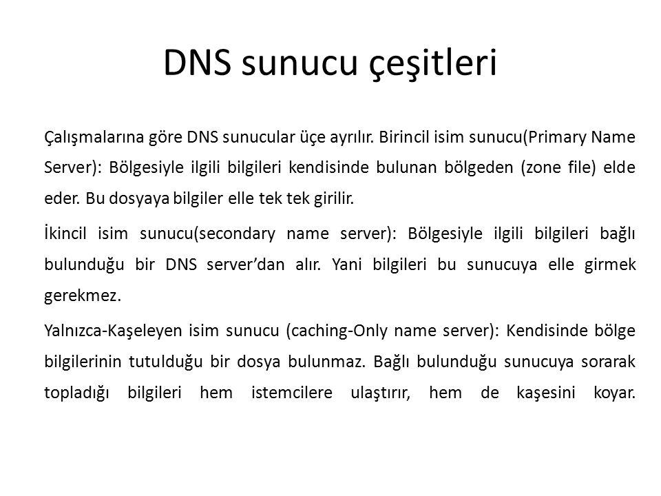 DNS sunucu çeşitleri