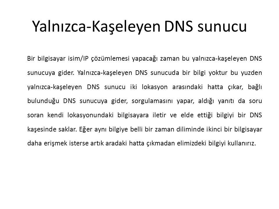 Yalnızca-Kaşeleyen DNS sunucu