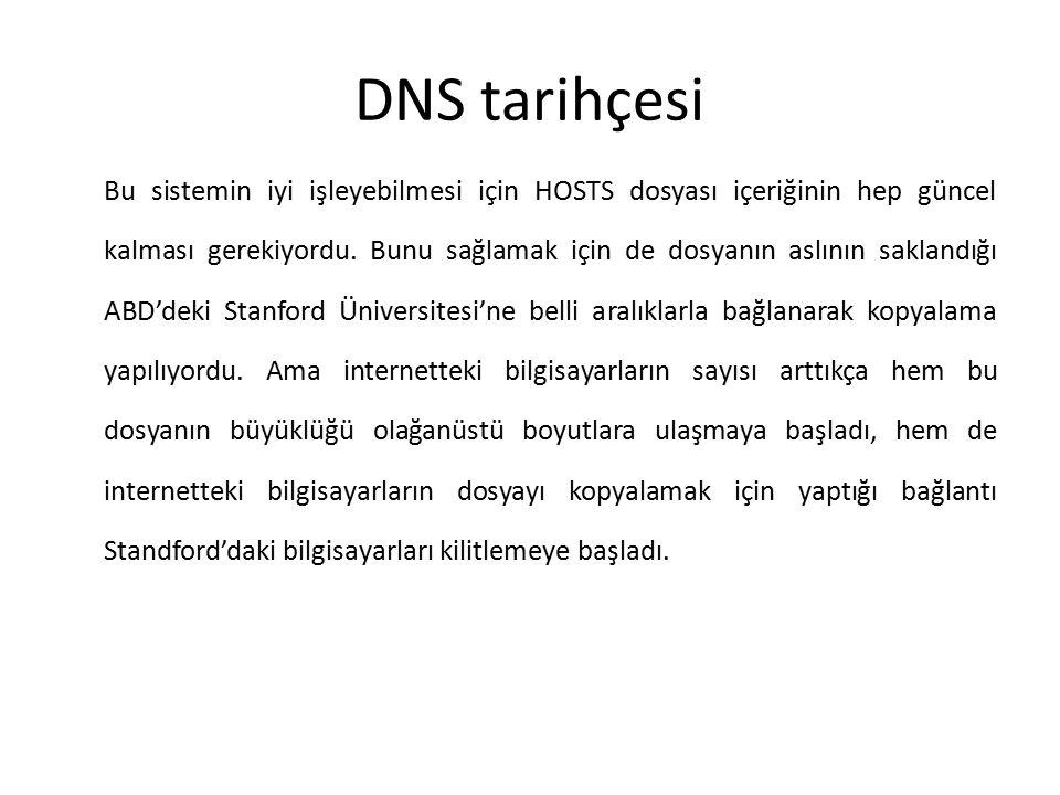 DNS tarihçesi