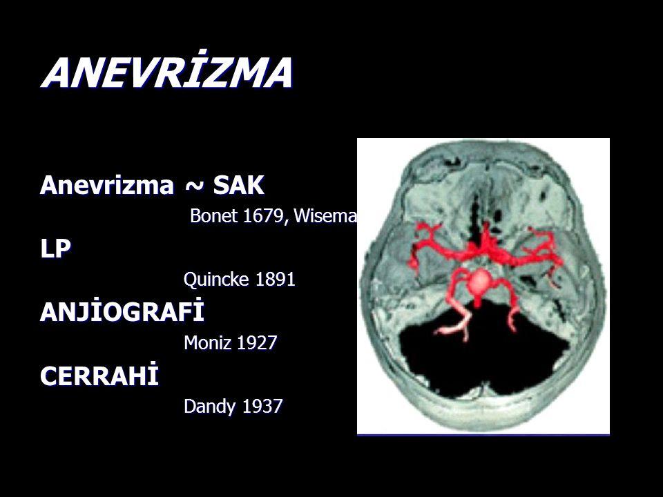 ANEVRİZMA Anevrizma ~ SAK LP ANJİOGRAFİ CERRAHİ